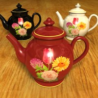 Set of 3 Tea Pots